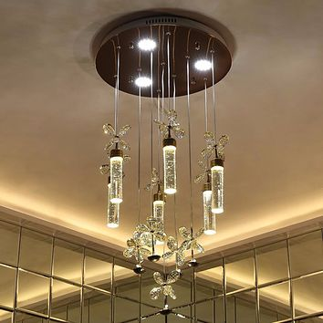 Bubble Column LED Modern Chandelier Lighting