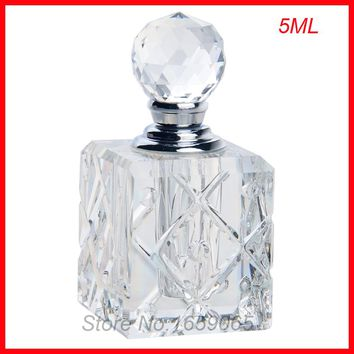 NEW 5ml cosmetics perfume bottle crystal glass essential oil makeup containers small Parfum atomizer perfumeros containers