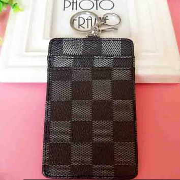 Louis Vuitton LV New Fashion Tartan Card Set Black
