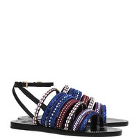 Tory Burch Mixed Trims Flat Sandal