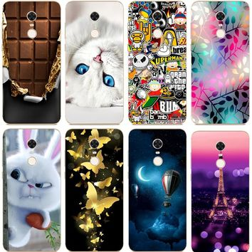 Silicone Cover For Xiaomi Redmi 5 Plus Case 5.99' Printing Cool Animal Case for Xiomi Redmi 5 Plus Cover Redmi 5Plus Phone Cases