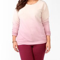 Spiked Ombre Pullover