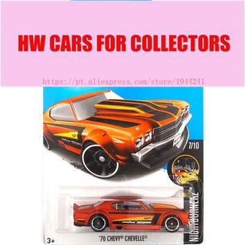 2017 Hot Wheels 1:64 Golden 70 Chevy Chevelle Metal Diecast Cars Collection Kids Toys Vehicle For Children Juguetes