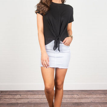 Tied To The Idea Top, Black