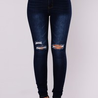 Calidan Skinny Jeans - Dark Denim