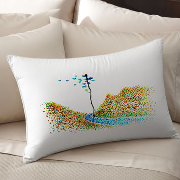 4K Flowing River Art Decorative pillow cover 100% cotton handmade silk pillow case  cushion cover bedroom living room throw pillows