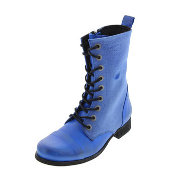 Diesel Womens The Wild Land Arthik Leather Combat Lace-Up Boot