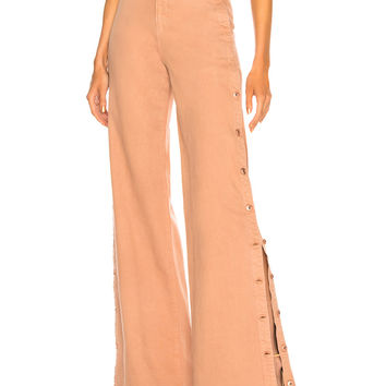 JONATHAN SIMKHAI Button Down Wide Leg in Bronze | FWRD