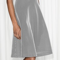 & Other Stories | Mesh A-Line Skirt | Black
