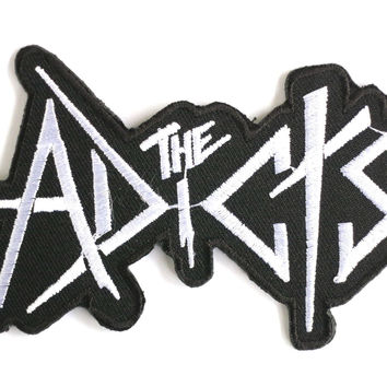 "THE ADICTS Punk Skins Iron On Embroidered Patch 4""/10cm"