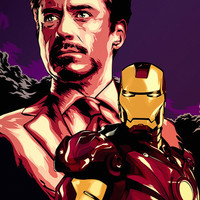 Iron Man Tony Stark Movie Fan Poster