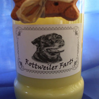 Rottweiler Farts Candle in a Recycled Liquor Bottle - 10oz