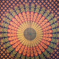 Blue Mandala Tapestry 2  - Mellow Mood