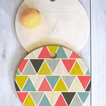 Heather Dutton Triangulum Cutting Board Round