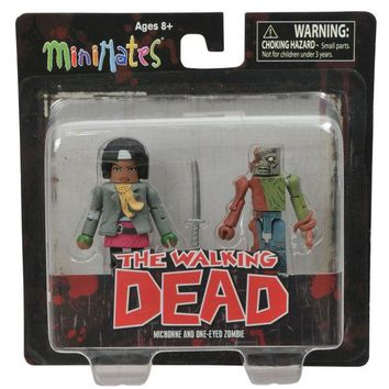The Walking Dead Michonne and One-Eye Zombie  Minimates