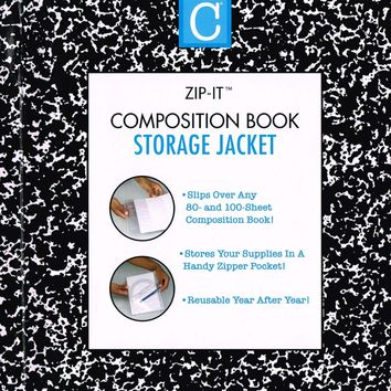 "1 X Composition Book Storage Jacket Size""10 in x 15.6 in"