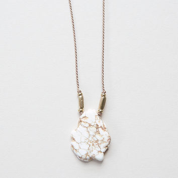 Magnesite & Silk Necklace by The Vamoose