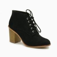 LEWIS LACE UP BOOTIES IN LIGHT BLACK