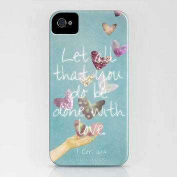 1 Corinthians 16:14 iPhone Case by RebekahEDesigns | Society6