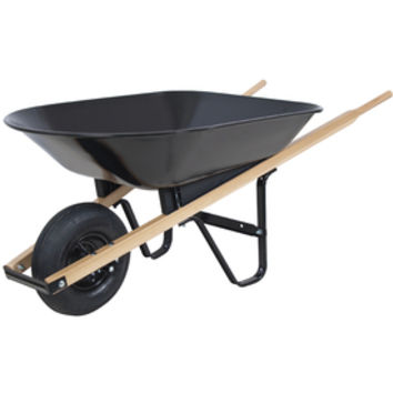 Shop Blue Hawk 4-cu ft Steel Wheelbarrow at Lowe's