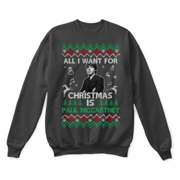 QIYIF All I Want For Christmas Is Paul McCartney The Beatles Ugly Sweater