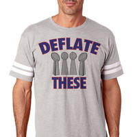 Deflate These Unisex  NFL Tee Football Jersey New England | Custom NFL Tee Shirts Jerseys | New England Patriots Shirts | Women and Men NFL