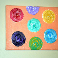 Colorful Circles Abstract Acrylic Painting