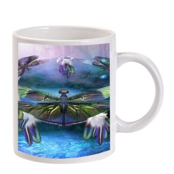 Gift Mugs | Dream Dragonfly Dream Ceramic Coffee Mugs