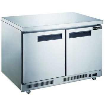 Commercial Kitchen Single Door Stainless Steel Undercounter Refrigerator 48""