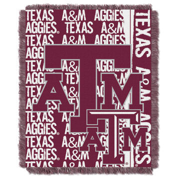 Texas A&M College 48x60 Triple Woven Jacquard Throw - Double Play Series