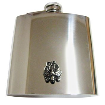Bee and Bee Hive 6 Oz. Stainless Steel Flask