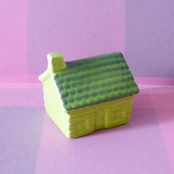 Mini house figurines ceramic -Doll house Miniature house ornaments -home decor Fairy garden