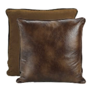 Cowgirl Kim Faux Leather and Suede Reversible Euro Shams~ Shams Only