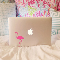 Hotty Pink Flamingo Laptop Decal
