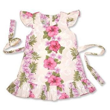 pinkmist hawaiian girl flutter dress