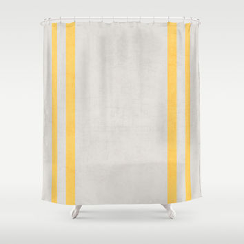 french linen - yellow Shower Curtain by Her Art