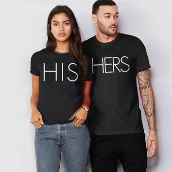 OKOUFEN Valentines Day couple unisex lover HIS HERS t-shirt Matching honeymoon sweet tshirt tumblr fashion funny cute tops tees