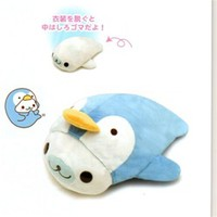 San-X Mamegoma Little Seals 12 1/2'' Plush with Removable Costume: Penguin