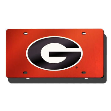 Georgia Bulldogs NCAA Laser Cut License Plate Cover