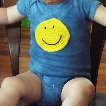 Smiley Face Baby Bodysuit- Smiley Face One Piece- Unique Baby Bodysuit- Happy Face- Custom Baby Clothes- Gender Neutral Baby Gift