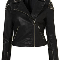 Studded Biker Jacket - Jackets  - Clothing