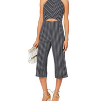 Exclusive for Intermix Elena Striped Cropped Jumpsuit - INTERMIX®