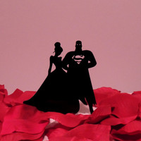 Stunning Superman and Princess Cake Topper