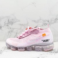 Off-white X Nike Air Vapormax Flyknit 2.0 White Pink
