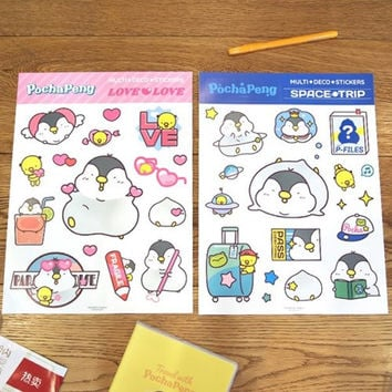 Pochapeng multi big deco sticker