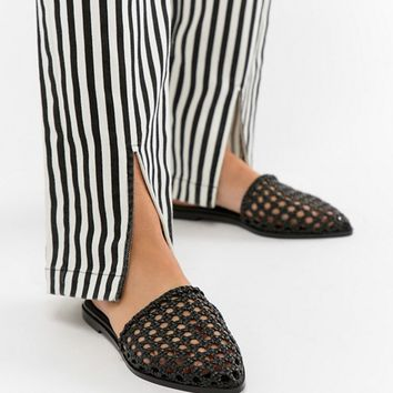 ASOS DESIGN Maya Wide Fit Woven Mules at asos.com