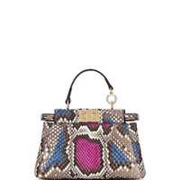 Fendi Python Micro Peekaboo Satchel Bag, Multicolor