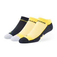NCAA Michigan Wolverines 3 Pack No Show Motion Sock-Navy/Maize/Grey