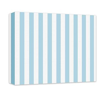Thick Stripes Pattern Canvas and Print Wall Art