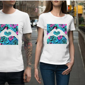 Tropical Hand Heart Unisex Shirt